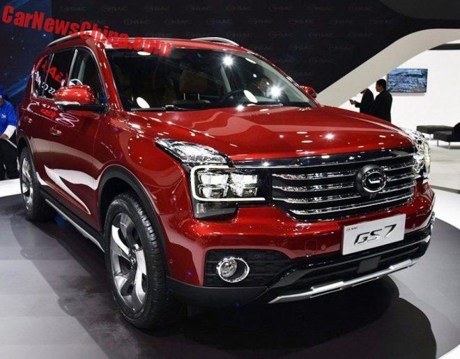 Большой кроссовер Guangzhou Auto GS7 – первая китайская премьера в Детройте