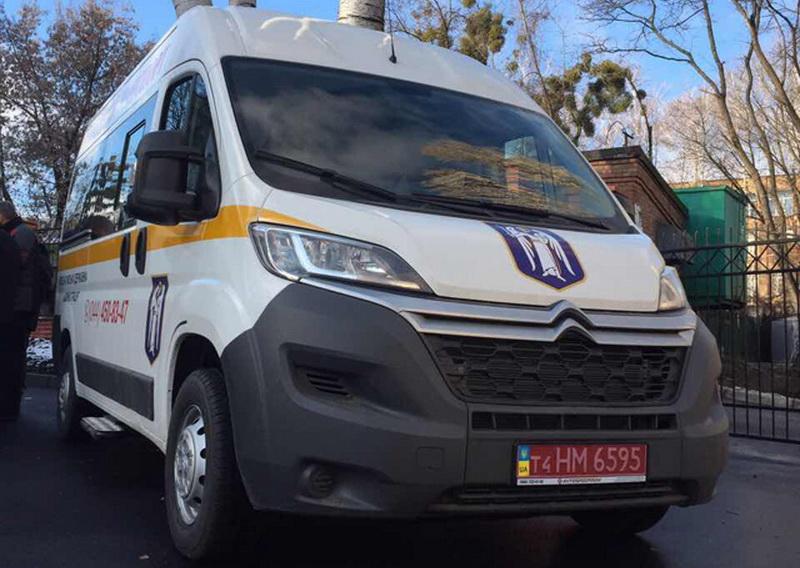 Бесплатное такси Сitroen Jumper для социальной службы Киева