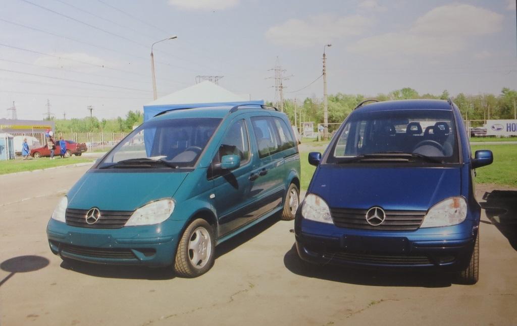 Mercedes-Benz Vaneo, официально презентованный в Киеве в мае 2004 года