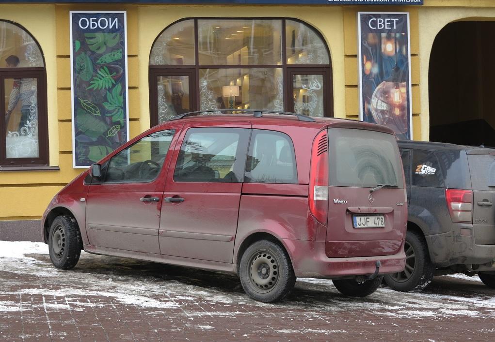 Mercedes-Benz Vaneo на литовских номерах