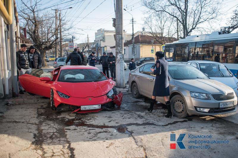 Авария Lamborghini в Крыму (Симферополь)