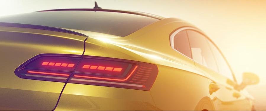 Немцы показали кусочек нового 4-дверного купе Volkswagen Arteon