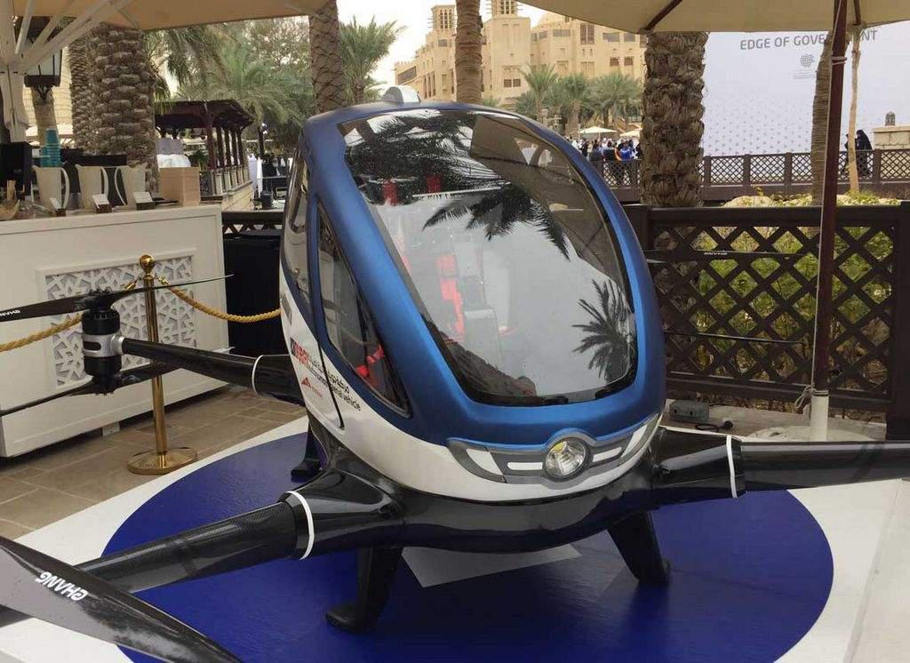 Дубаи переходит на беспилотное летающее такси
