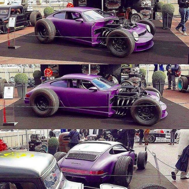 Тюнинг на грани: классический Porsche превратили в брутальный хот-род