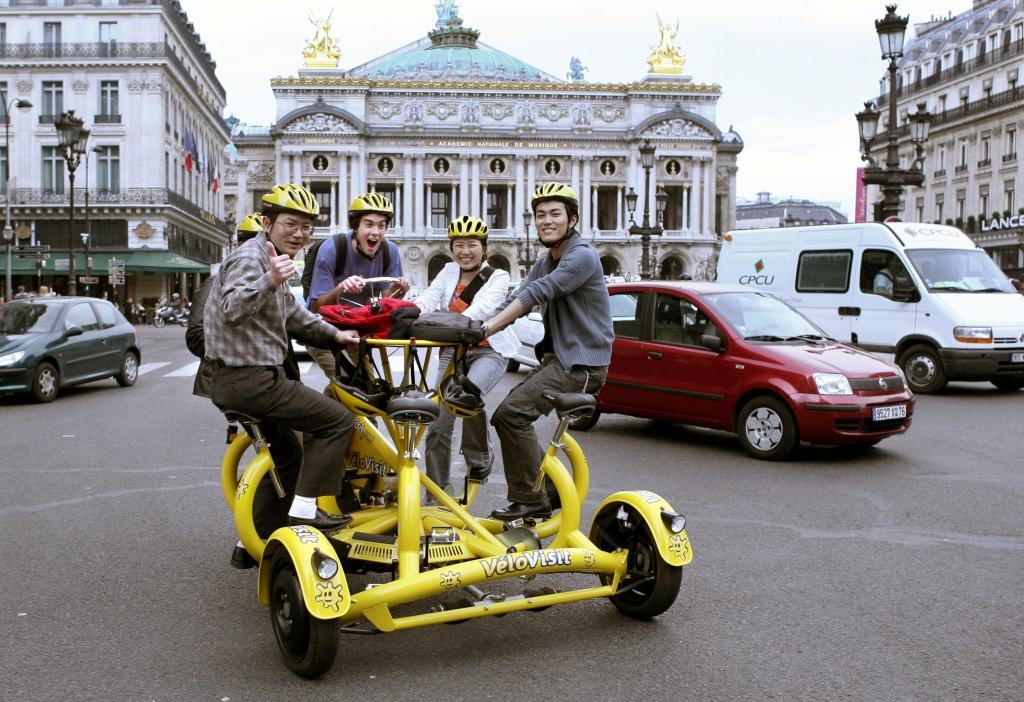 4-местное такси-велосипед в Париже