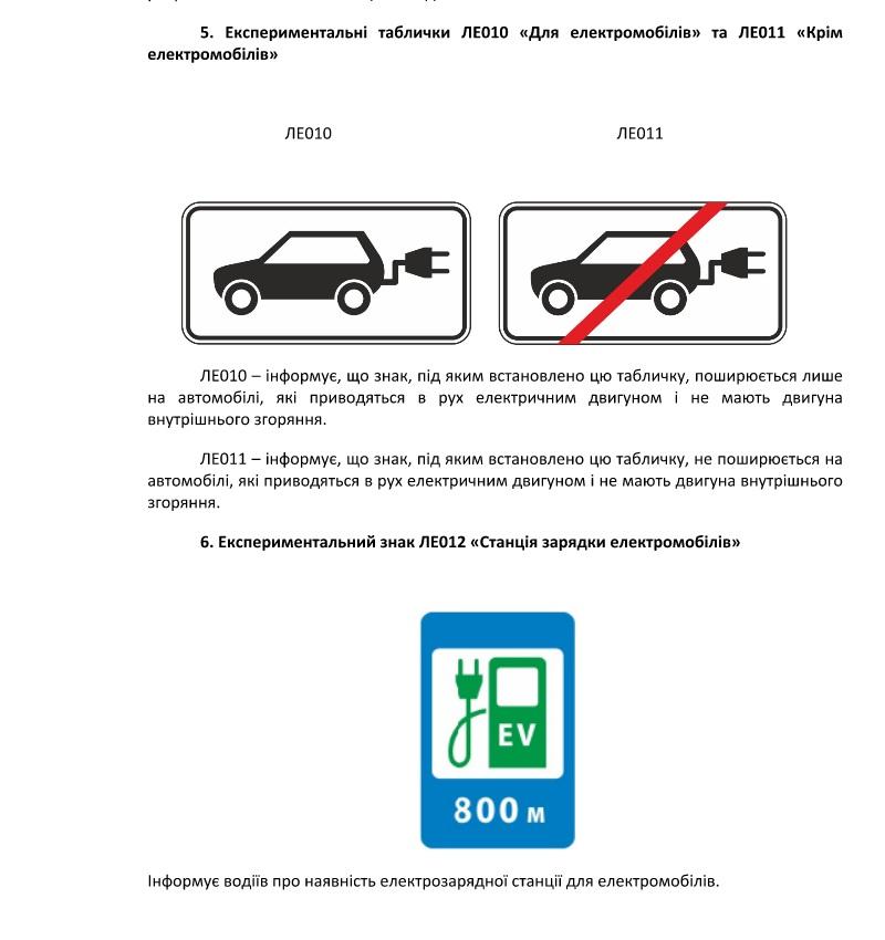 В Украине опробуют дорожные знаки для электромобилей и велосипедистов