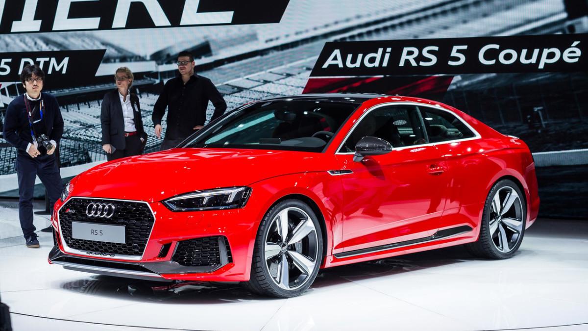 Заряженное купе Audi RS5 2018: живые фото из Женевы