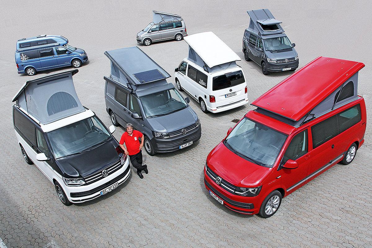Семь кемперов на Volkswagen T6