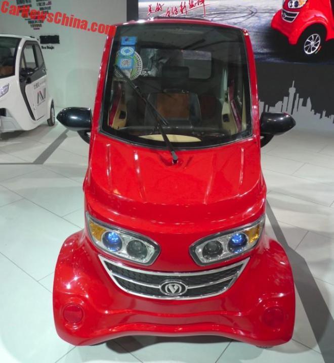 Китайская народная республика представил миру необычайный мини-электромобиль