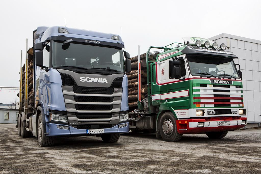 Scania Streamline 143 - 1992 года и Scania S 500 - 2016 года