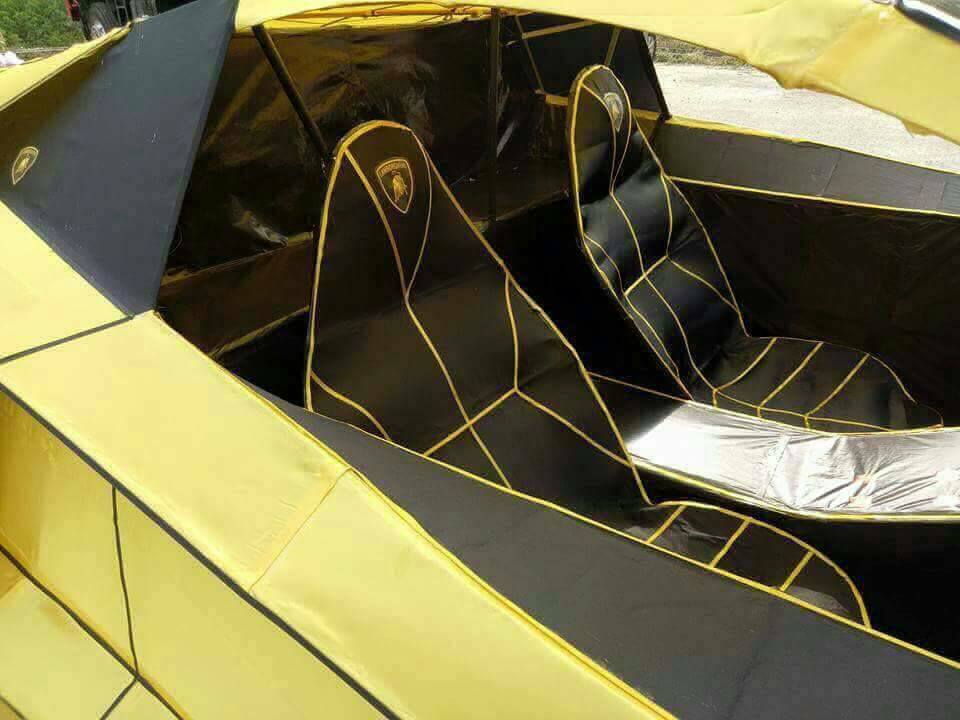 Парень изТайваня сделал копию Lamborghini избумаги
