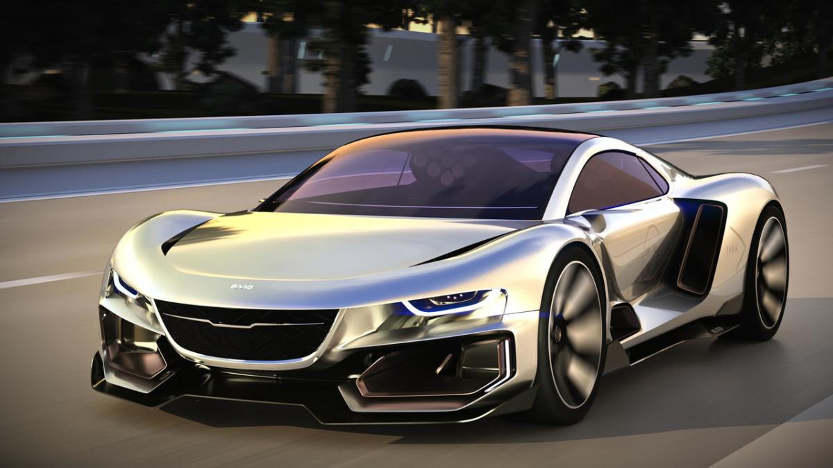 Каким будет электрический суперкар Saab