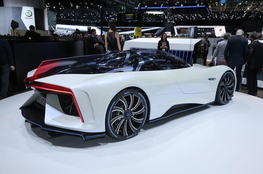 В Женеве показали электрический суперкар из Китая