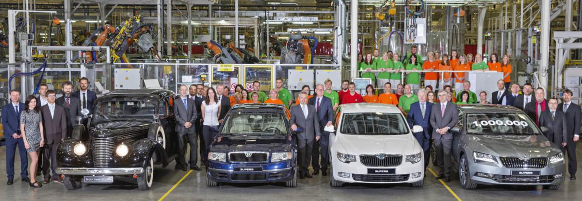В Чехии сошла с конвейера миллионная Skoda Superb