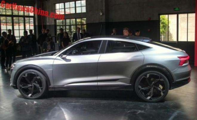 В Китае представлен электрический купе-кроссовер Audi E-Tron Sportback