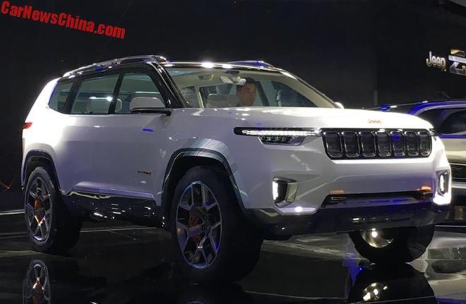 ВКитайской народной республике представлен концептуальный кроссовер Jeep Yuntu