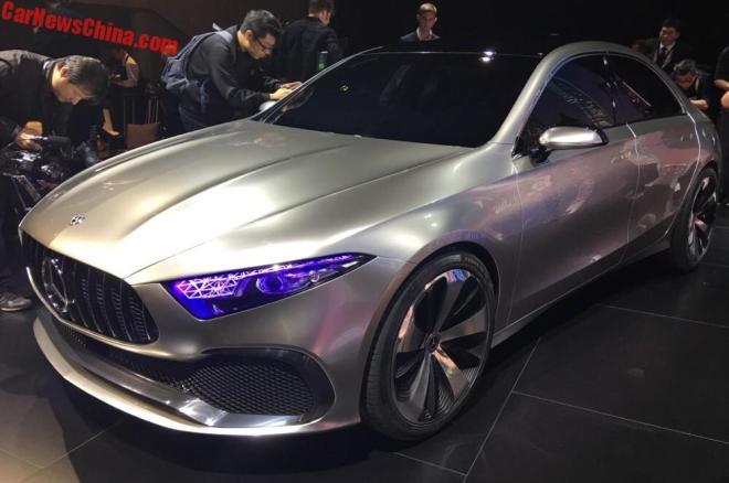 В Шанхае показали концепт седана Mercedes-Benz A-Class