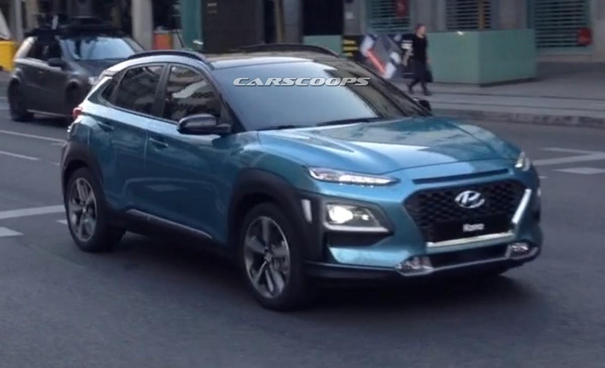 Кроссовер Hyundai Kona 2018 полностью рассекречен
