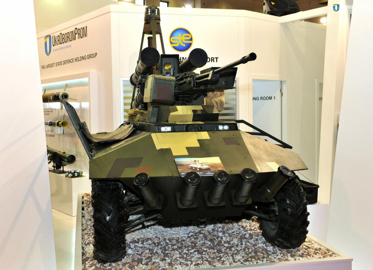 Беспилотник «Фантом» на выставке IDEF-2017