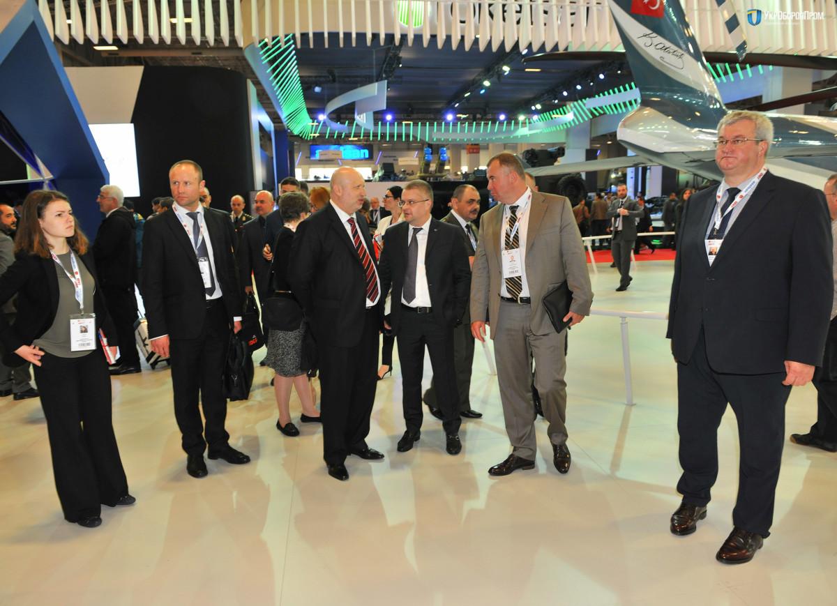 Украинская делегация на выставке