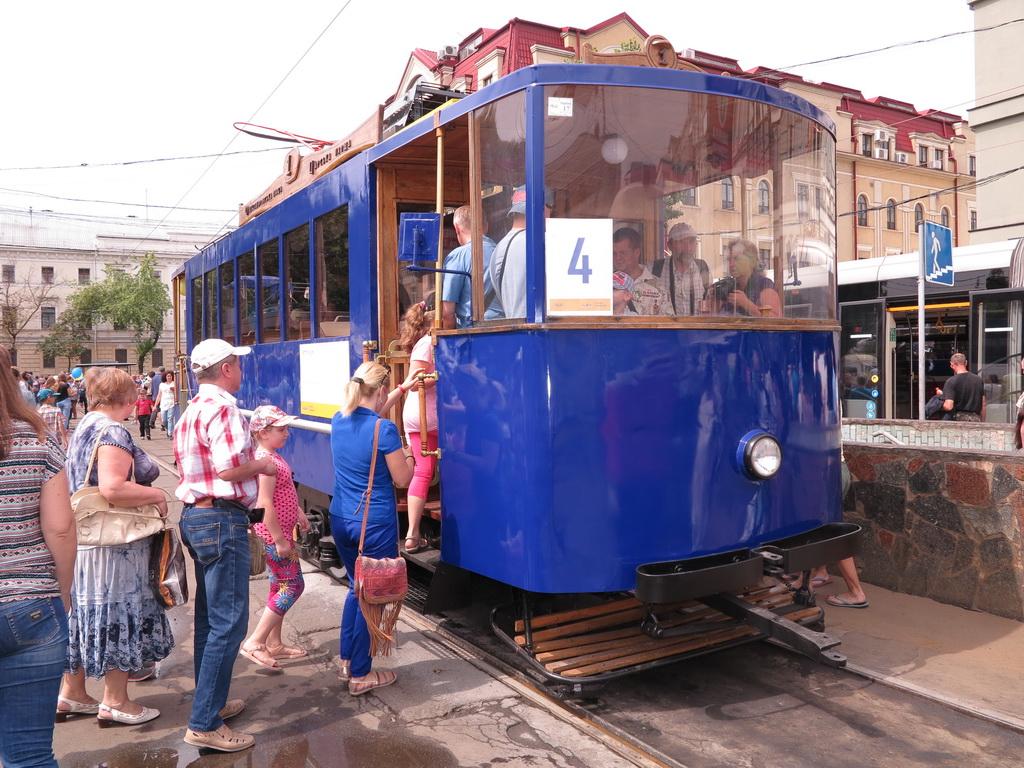 Парад трамваев в Киеве