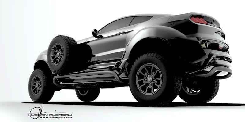 Для арабского шейха набазе Ram 1500 собрали Форд  Mustang