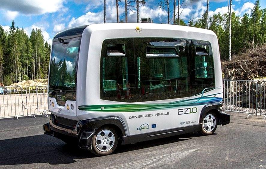 В Финляндии начинают регулярную эксплуатацию беспилотных автобусов