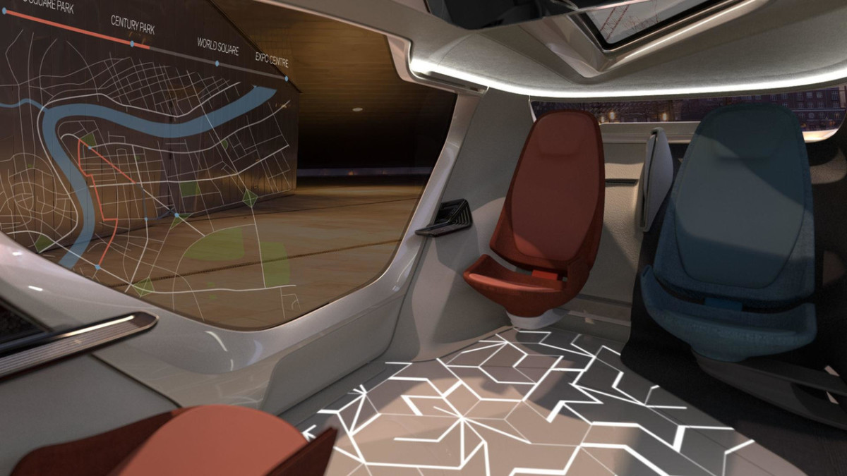 NEVS InMotion: китайский беспилотник с дверями как у Lamborghini