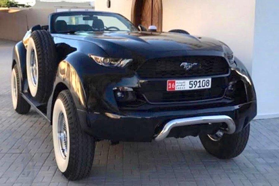 Набазе Ram 1500 собран полноприводный Форд Mustang для арабского шейха