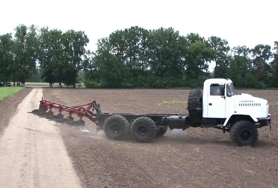 КрАЗ вместо трактора: полевые испытания МЭС-330
