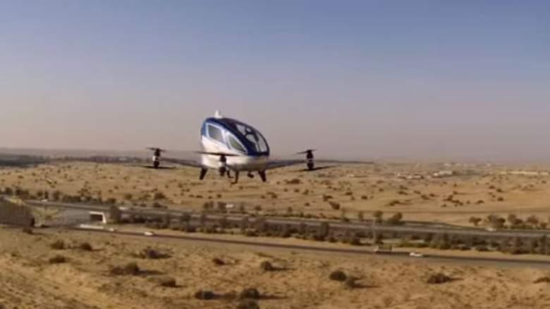 Летающее такси уже подняли в небо Дубаи
