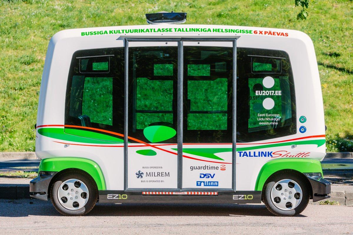 В Эстонии запустят в эксплуатацию беспилотные автобусы