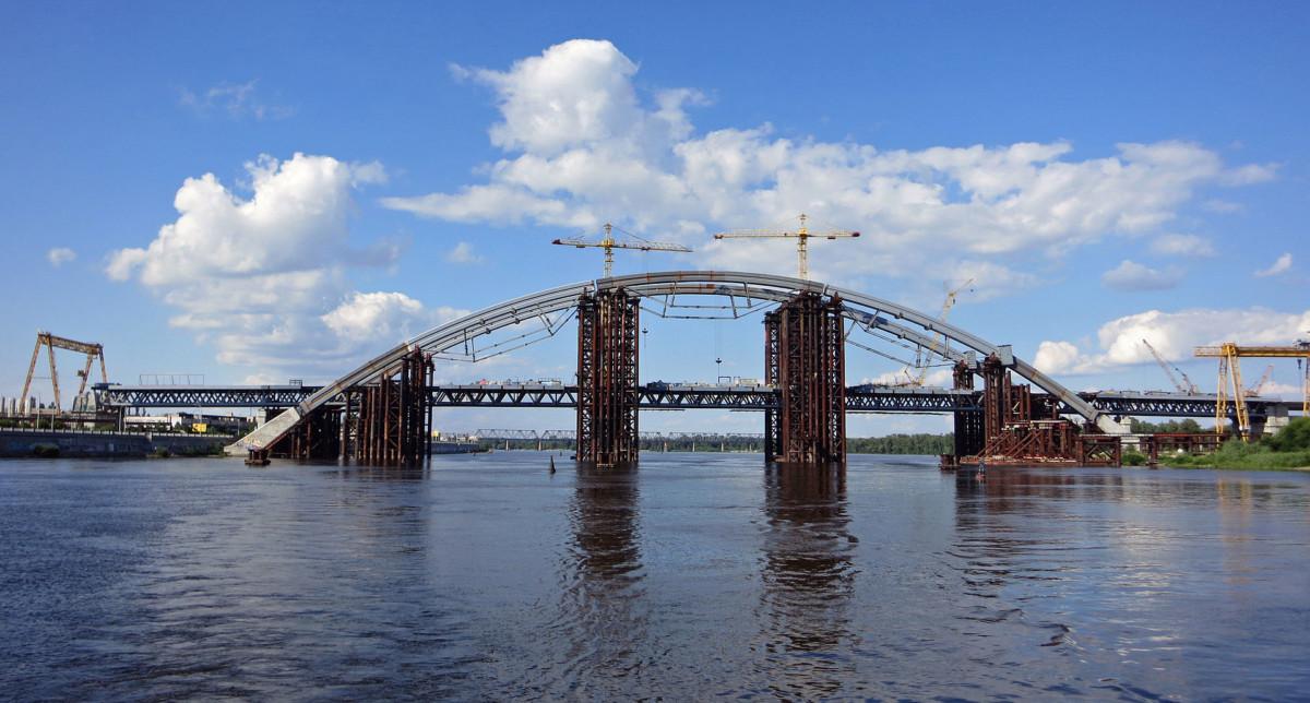 Подольский мост: полмиллиарда на съезд и укрепление временных опор