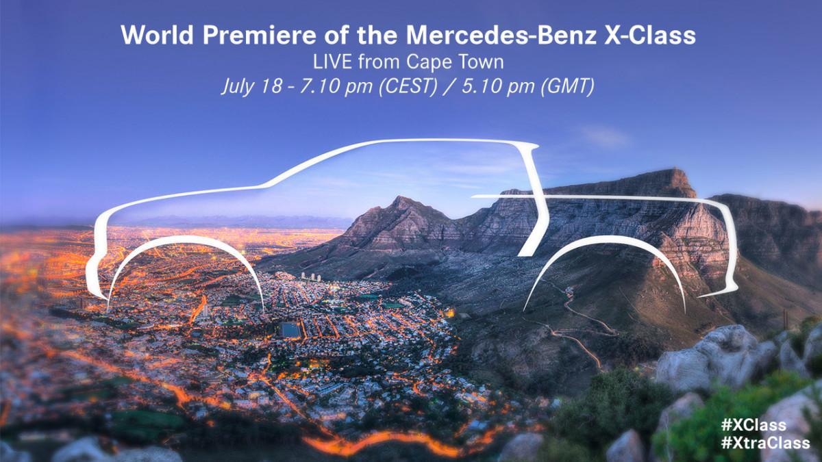 Презентация Mercedes-Benz X-Class: онлайн трансляция