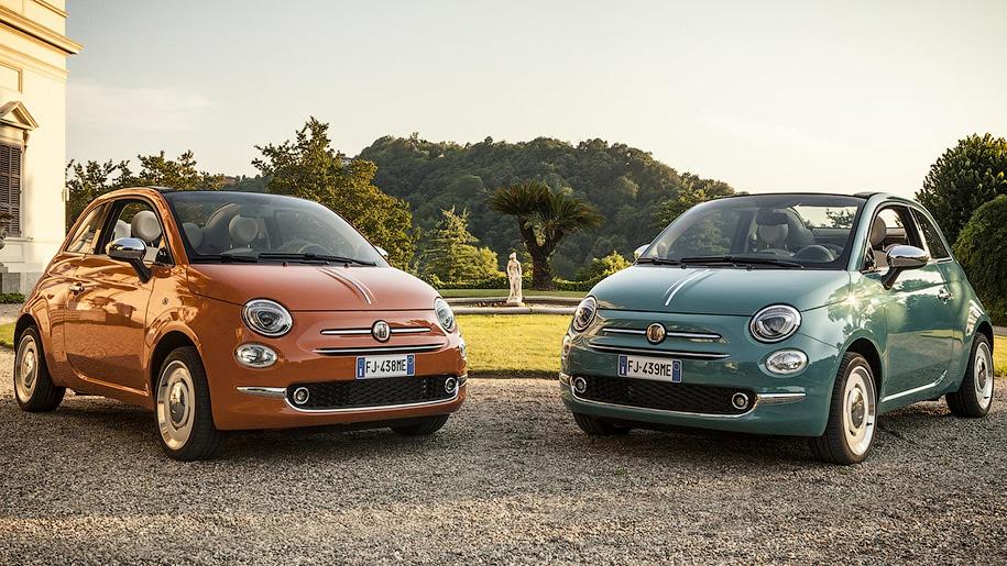 Особый Fiat 500 в ретро-стиле посвятили юбилею модели