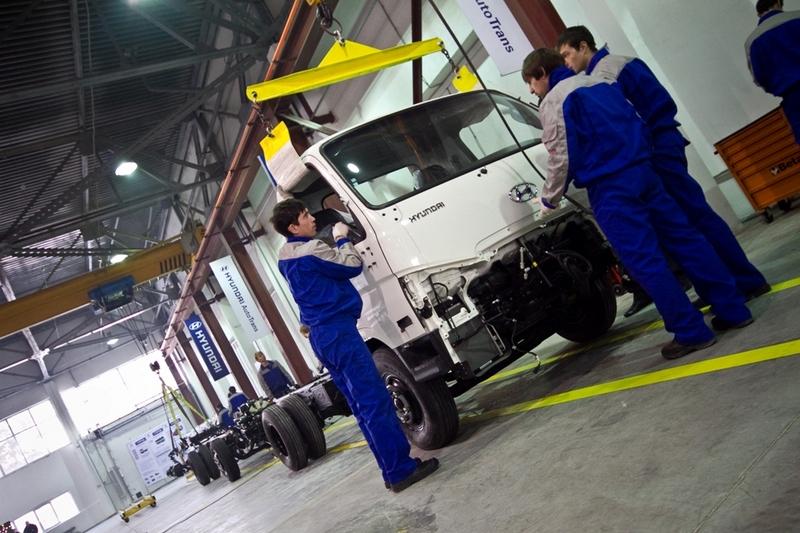 Cборка грузовиков Hyundai
