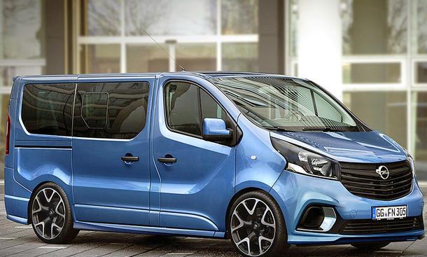 Как бы мог выглядеть Opel Vivaro в зяреженной версии OPC