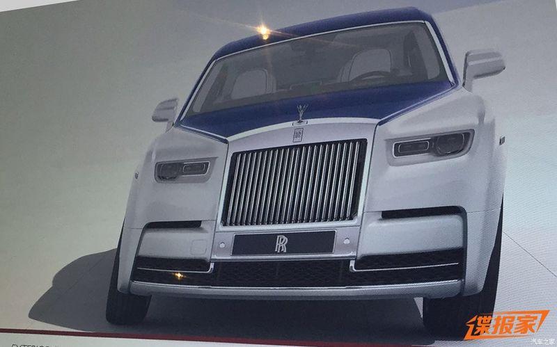 Rolls-Royce Phantom 2018: первые изображения нового флагмана