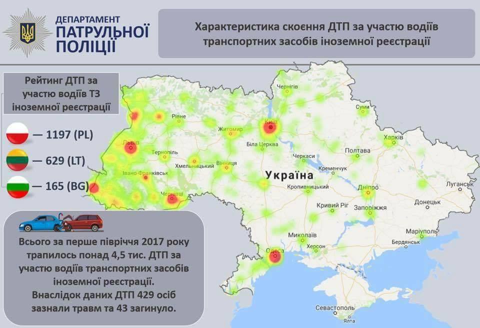 МВД опубликовало статистику ДТП с участием нерастаможенных авто