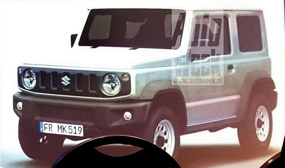 Обновление спустя 20 лет: первые шпионские фото Suzuki Jimny