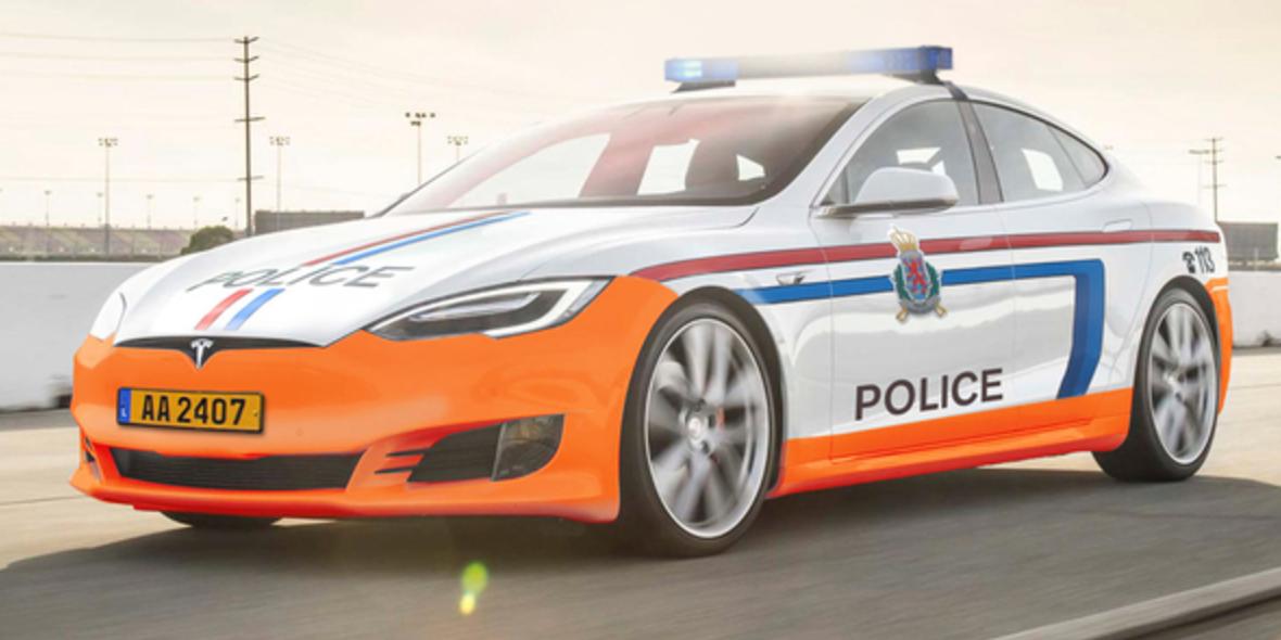 Полиция приступает к патрулированию на электрокарах Tesla