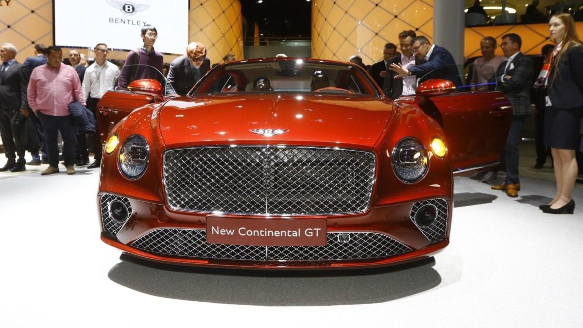 Новый Bentley Continental GT 2018 впервые показали на публике
