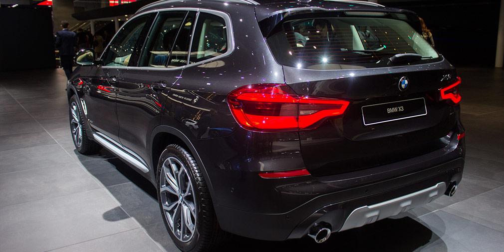BMW X3 2018: живые фото с Франкфуртского автосалона