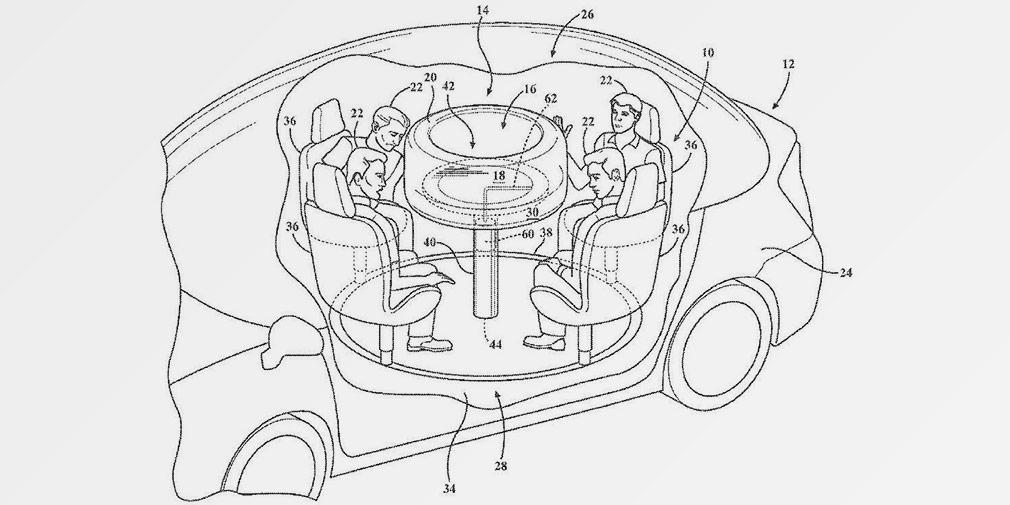 Форд придумал стол сподушками безопасности