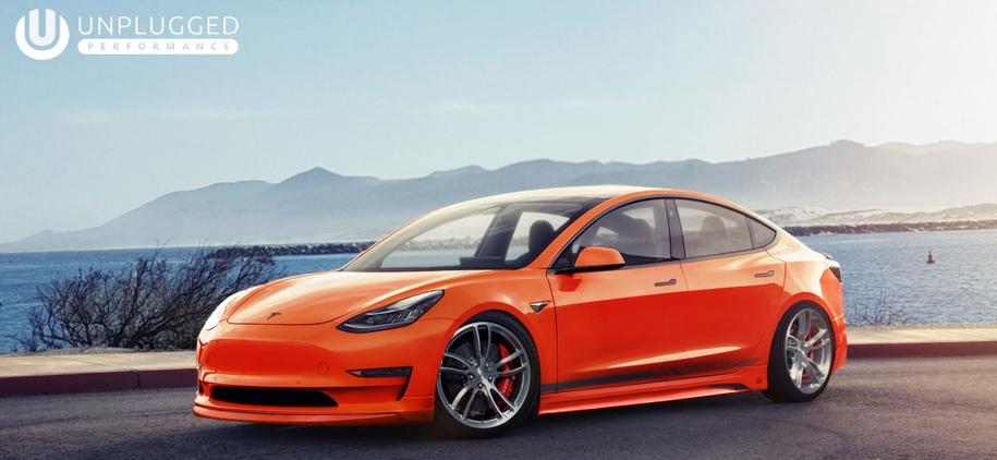 Электромобиль Tesla Model 3 впервые подвергли тюнингу