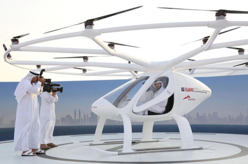 Беспилотное летающее такси впервые испытали в реальных условиях