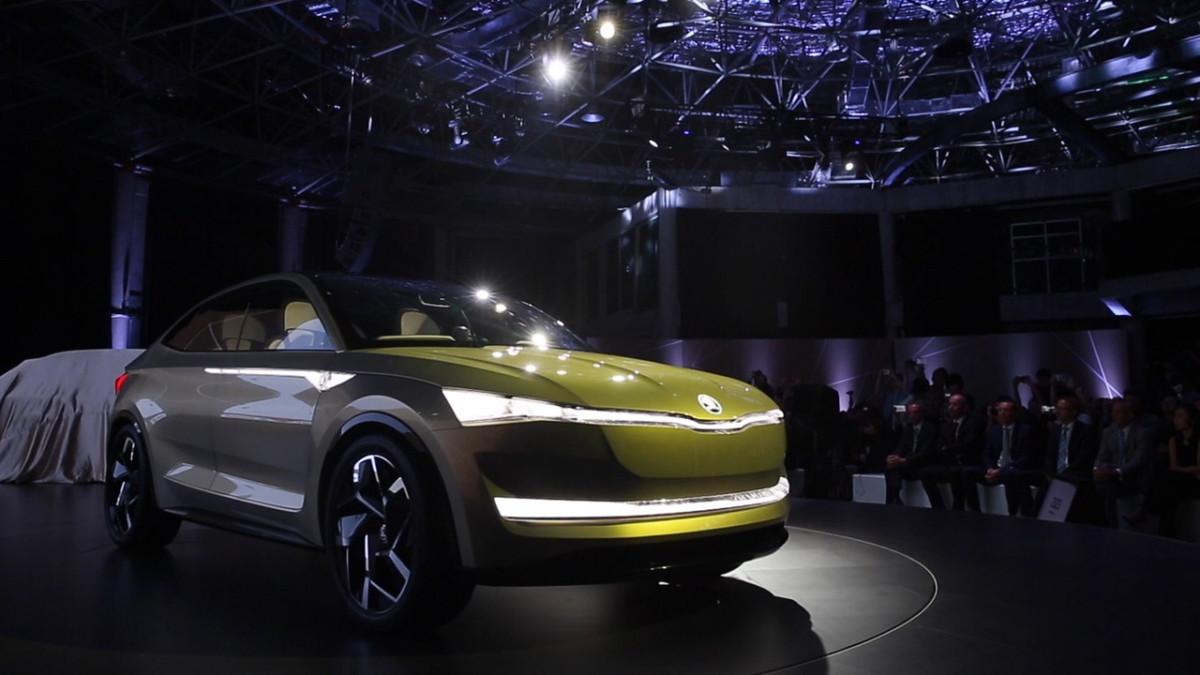 Электрокроссовер Skoda Vision E обновили к автошоу во Франкфурте