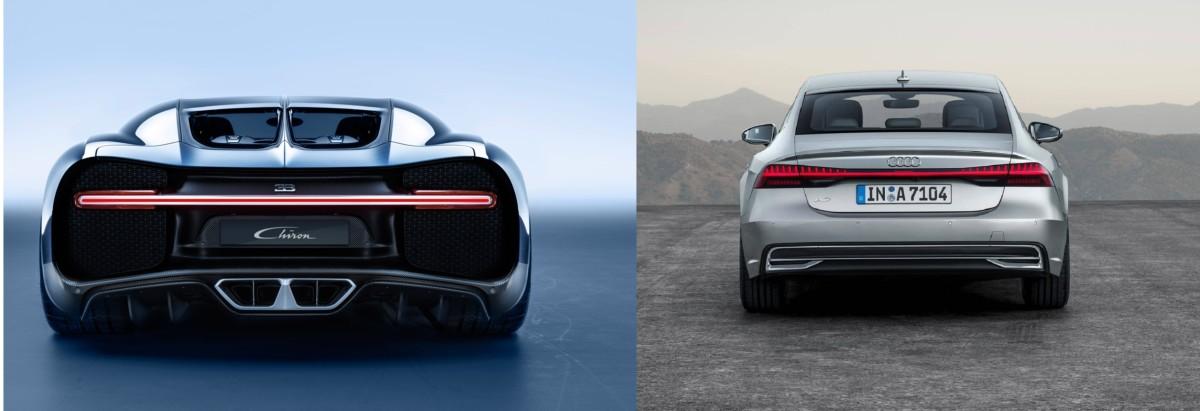 Что общего у новой Audi A7 2018 и Bugatti Chiron