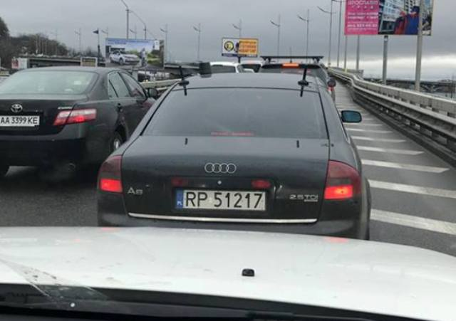 В Украине замечена шпионская Audi на польских номерах