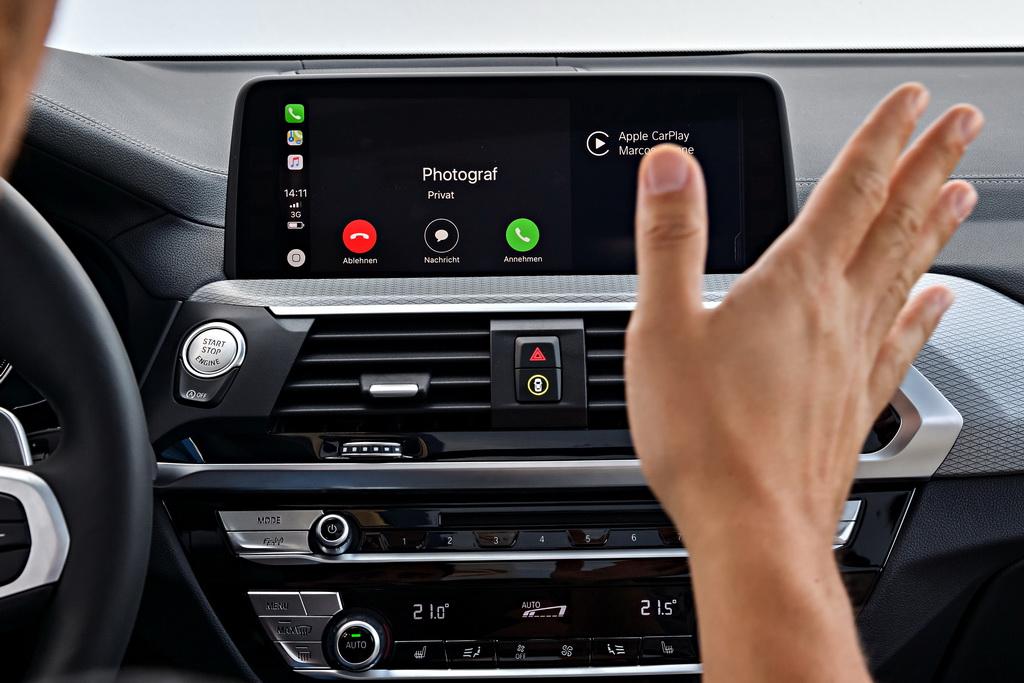 Жесты в BMW X3 2018